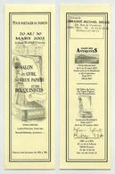 Marque-page - 2003 - 18ème Salon Du Livre, Des Vieux Papiers Et Des Bouquinistes. Bld Blanqui Paris XIII - Marque-Pages