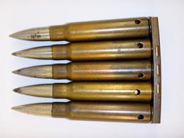 Lame-chargeur De 5 Cartouches 7.92 Mauser Tchèques 1938 (1) - WW2 - Neutralisées - 1939-45