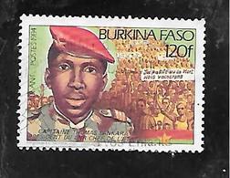 TIMBRE OBLITERE DU BURKINA DE 1984 N° MICHEL B 975 - Burkina Faso (1984-...)