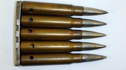 Lame-chargeur De 5 Cartouches 7.92 Mauser Tchèques 1938 (2) - WW2 - Neutralisées - 1939-45