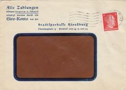 LETTRE. DEUTSCHES REICH.  1943. ALLE ZAHLUNGEN GIRO-KONTO  STRASSBURG - Allemagne