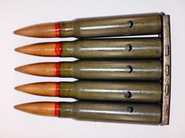 Lame-chargeur De 5 Cartouches 7.92 Mauser étuis Acier à Identifier - Neutralisées - Militaria