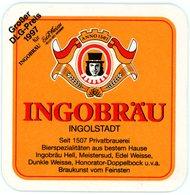 Deutschland. Ingobräu Ingolstadt. Seit 1507 Privatbrauerei. Braukunst Vom Feisten. Germany. Allemagne. Duitsland. - Bierdeckel