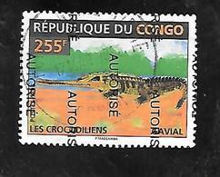 TIMBRE OBLITERE DU CONGO BRAZZA SURCHARGE AUTORISE EN 1998 N° MICHEL 1531 TRES RARE - Congo - Brazzaville