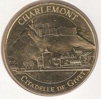 MONNAIE DE PARIS 08 CHARLEMONT Charlemont - Citadelle De Givet 2018 - 2018