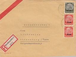 LETTRE. DEUTSCHES REICH.  1941. RECOMMANDÉ  STRASSBURG - Allemagne