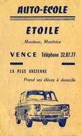 """PUBLICITE   /    L 73     """" AUTO ECOLE  ETOILE  """"    CPA 9 X 14 - Publicité"""