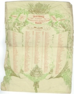 Université De Louvain. Souvenir Du Banquet Offert à Leurs Frères De Bonn. 1 Juillet 1847. Etat !!!!! - Documents Historiques
