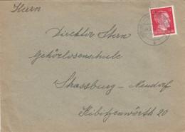 LETTRE. DEUTSCHES REICH.  1944. HÜNINGEN-St LUDWIG ELSASS - Allemagne