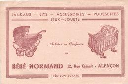 BU 1641-/  BUVARD     LANDAUS LITS POSSETTES  BEBE NORMAND   ALENCON - Kids