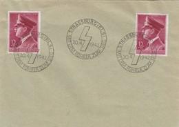 LETTRE. DEUTSCHES REICH.  STRASSBURG 20 4 1942. MIT DEM FUHRER Mi 813 MeF - Allemagne