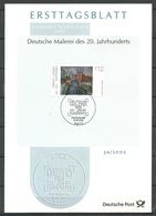 Deutschland BRD 2002 Michel 2279 German Art Of 20th Century Erich Kirchner ETB - [7] Federal Republic