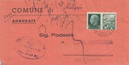 GG12- Documento Amministrativo Del 1943 Da Lama Mocogno A Polinago E Rispedito A Lama Mocogno (Modena) - Marcofilía