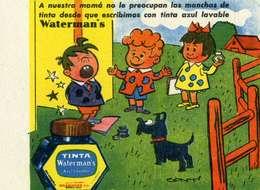 "PUBLICITE   /    L 73     "" WATERMAN  ""    CPA 9 X 14 DOS BLANC - Pubblicitari"