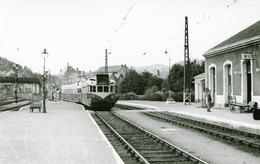 Neussargues. Autorail. Cliché Jacques Bazin. 03-09-1956 - Trains