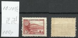 LETTLAND Latvia 1938 Michel 264 Perf 10 : 10 1/2 WM Inverted Horizontal MNH - Lettland