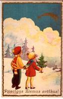 LATVIA.LETTLAND. Strops. Latvian Painters 1930s Photo Postcard - Latvia