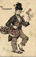 Illustrateur Willi Scheuermann: Der Rosenkavalier, Vagabund Avec Des Fleurskörben - Scheuermann, Willi