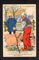 Illustrateur ( G ) / Dessin Signé Galry / Ces Bons Normands  / Humour,Normandie,marché,cochons .... - Unclassified