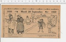 2 Scans Humour De 1920 Mendicité Mendiants Calotte Punition Enfant Prix Poudre Et Cartouches De Chasse 216E6 - Vieux Papiers