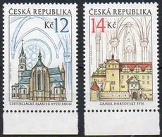 Tschechische Republik 2009  MiNr. 596/ 597  **/ Mnh ; Kirche Im Kloster Vyssi Brod + Horsovsky Tyn - Tschechische Republik