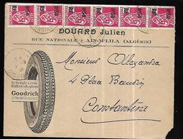 Algérie Lettre Recommandée Publicitaire Du 07 03 1946 Vers Constantine - Algérie (1924-1962)