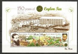CEYLON TEA. 150 Ième Anniversaire De La Culture Du Thé Au Sri Lanka. B-F Neuf ** Année 2017 - Landwirtschaft