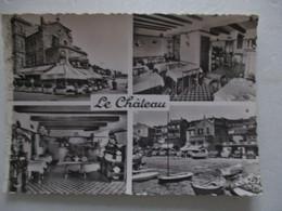 CPA CPSM VAR CP 83 LE LAVANDOU V1960 - GP ANIME Multivues Hôtel HOSTELLERIE LE CHATEAU/ CÔTE D'AZUR - ED TARDY  TBE - Le Lavandou