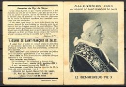 Calendrier 1953 De L'Oeuvre De Saint François De Sales - - Calendriers