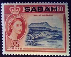 Sabah 1964 Paysage Landscape Montagne Mountain Bateau Boat Borneo Surchargé Overprint Yvert 10 ** MNH - Sabah
