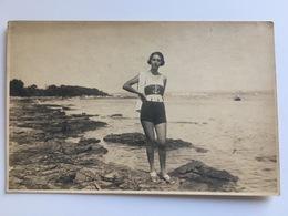 Photo AK Madame Femme In Marine Bath Suite Maillot De Bain Foto Szenlivanyl Brioni - Other