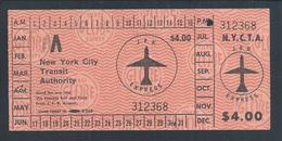 Bus And Rail Ticket In New York City. Bus- Und Bahnfahrkarte In New York City. - Bus