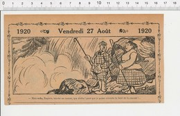 2 Scans Humour De 1920 Bruit De La Cascade D'eau Femme Pipelette / Député Campagne électorale Politique Coq Oie 216E6 - Vieux Papiers