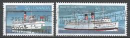 Canada 1987. Scott #1139-40 (U) Segwun, 1887 & Princess Marguerite, 1948, Steamships ** Complet Set - 1952-.... Règne D'Elizabeth II