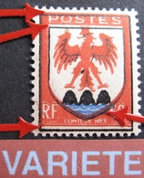 R1949/118 - 1946 - BLASON Du COMTE De NICE - N°758 NEUF** - VARIETE ➤➤➤ Décalage Des Couleurs - Curiosités: 1945-49 Neufs