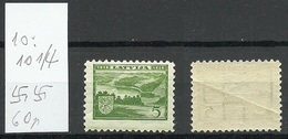 LETTLAND Latvia 1938 Michel 265 Perf 10:10 1/4 Normal Horizontal WM MNH - Letland