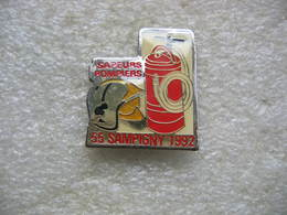 Pin's Des Sapeurs Pompiers De SAMPIGNY 1992 (Dépt 55) - Bomberos