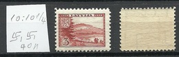 LETTLAND Latvia 1938 Michel 264 Perf 10 : 10 1/4 WM Normal Horizontal MNH - Letland