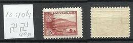 LETTLAND Latvia 1938 Michel 264 Perf 10 : 10 1/4 WM Inverted Horizontal MNH - Letland