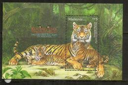 Le Tigre De Malaisie, Animal En Voie De Disparition. Bloc-feuillet Neuf ** Malaisie/Malaysia. Année 2013 - Big Cats (cats Of Prey)