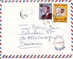 Morocco Air Mail Cover Sent To Denmark Rabat 5-1-1986 - Maroc (1956-...)