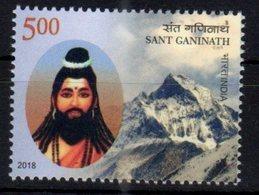 INDIA, 2018, MNH,SANT GANINATH, MOUNTAINS, 1v - Geology