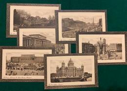 England, Lancashire, Liverpool - Serie 1900-1910's, 6 Framed Sepia Postcards - Liverpool