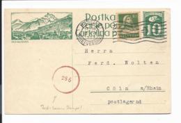 Schweiz P 110 - 10 C Ziffer BiPo Bex-les-Bains M. 10 C.  ZF Von Basel Nach Cöln Bedarfsverwendet, Zusatzstemp - Entiers Postaux