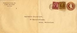 1930 ESTADOS UNIDOS , SOB. ENTERO POSTAL  , NEW YORK - BERNA , FR. COMPLEMENTARIO - 1921-40