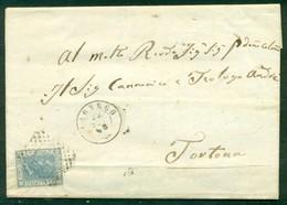 Z768 ITALIA REGNO 1868 NUMERALE 1225 LARVEGO Punti 9, Lettera Affrancata Con VEII 20 C. E Annullo Numerale A Punti 1225, - 1861-78 Vittorio Emanuele II