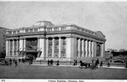 CANADA - Union Railway Station OTTAWA - VG Animation Etc - Gares - Sans Trains