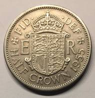 Half Crown - 1955 - 1902-1971 : Monnaies Post-Victoriennes