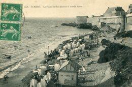 FRANCE - St. Malo - La Plage De Bon-Secours A Maree Haute 1911 - Saint Malo