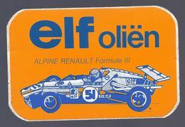 ELF OLIËN ALPINE RENAULT FORMULE III STICKER AUTOCOLLANT - Publicités